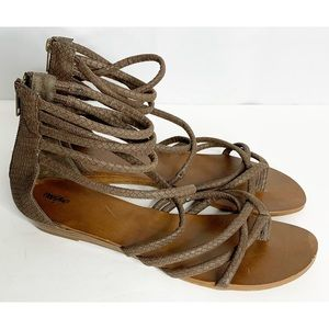 Mossimo brown braided gladiator sandals 11